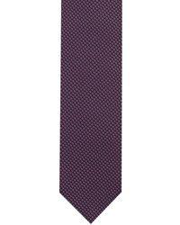 HUGO Tie cm 7 Dezent gemusterte Krawatte aus Seiden-Jacquard - Lila