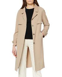 Vero Moda Vmdonnaexport Ss20 Long Jacket Boos Trenchcoat - Brown