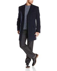 Tommy Hilfiger Bryce 36 Inch Single Breasted Top Coat - Black