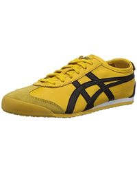 huge selection of 3dcee 00734 Onitsuka Tiger Mexico 66, Unisex-adults' Low-top Trainers, Yellow  (yellow/black 490), 12 Uk