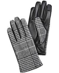 S.oliver RED LABEL Handschuhe mit Hahnentritt-Muster schwarz check L - Mehrfarbig