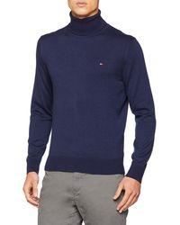 Tommy Hilfiger Cotton Silk Roll Neck suéter - Azul