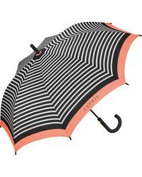Esprit Stockschirm Long AC E_Motional Stripes - Coral - Mehrfarbig