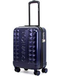 Calvin Klein Hardside Spinner Luggage With Tsa Lock - Blue
