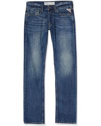Replay Newbill Straight Jeans, - Blue