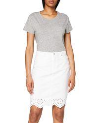 Vero Moda Vmlisa Mr Short Pencil Lace Skirt Gonna - Blu
