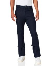 FIND Jeans Bootcut con Elastici - Blu