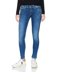 Replay Luz Coin Zip Skinny Jeans - Blue