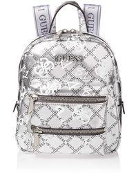 Guess Caley Backpack Silver Multi - Métallisé