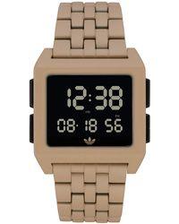 adidas Archive Cm1 Z07 3068-00 Tan Stainless-steel Quartz Fashion Watch - Multicolour