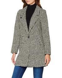 Scotch /& Soda Maison Damen Bonded Wool Jacket in Checks and Solids Jacke Grau Medium Grey Melange 0a
