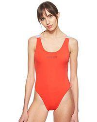 Calvin Klein Scoop One Piece-RP Bikini-Set Donna - Rosso