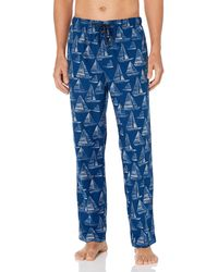 Nautica Cozy Fleece Knit Sleep Pants - Blu