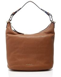 Michael Michael Kors Lupita Large Leather Hobo Bag in Brown - Lyst 1e5151c6d9581