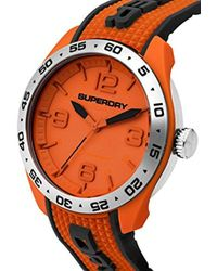 Superdry - 'navigator Pop' Quartz Plastic And Silicone Casual Watch, Color:orange (model: Syg213o) - Lyst