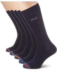 Superdry 5 Pack Sock Calcetines - Azul