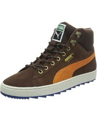 PUMA Suede Classic + Rugged Boots S Shoes Leather Brown 357017 03 B34b