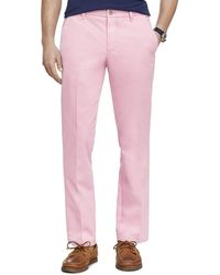 Izod Performance Stretch Straight Fit Flat Front Chino Pant - Pink