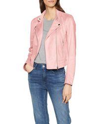 Tom Tailor Kunstlederjacke im Wildlederlook Jacke - Pink