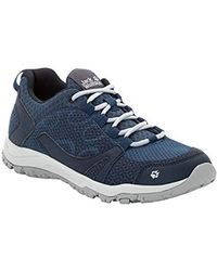 Jack Wolfskin Activate W Low Rise Hiking Shoes - Blue