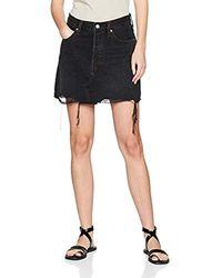 Levi's Deconstructed Skirt Falda para Mujer - Negro