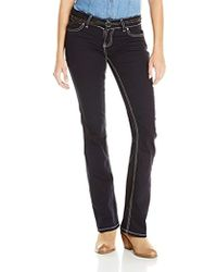 adf337b1 Replay Gracelly Destroyed Boyfriend Jeans With Tweed Patch Detail - Grey in  Gray - Lyst