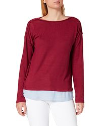 Springfield Camiseta Bimateria Lisa - Rojo