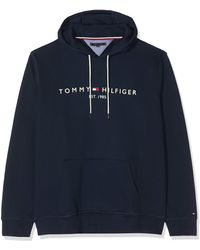 Tommy Hilfiger Core Tommy Logo Hoody Capucha - Azul