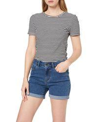 Vero Moda NOS Vmhot Seven Nw DNM Fold Mix Noos Shorts - Blau