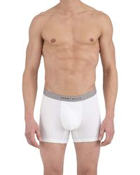 Perry Ellis Portfolio 4 Pack Cotton Boxer Briefs - White