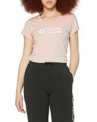 G-Star RAW Graphic Logo 20 Slim T-shirt - Pink