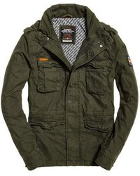 Superdry Classic Rookie Military Jacket Coat - Green
