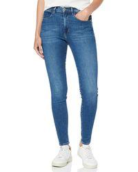 Wrangler High Rise Skinny Jeans - Blu