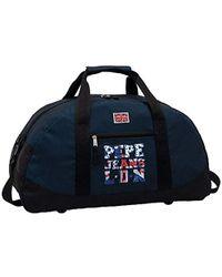 Pepe Jeans Travel Duffle Bag, 50 Cm, 27 Liters, Blue