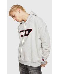 DIESEL S-division-d Sweat-shirt Sports Hoodie - Grey