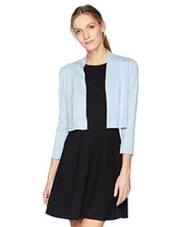 Calvin Klein - 3/4 Sleeve Knit Shrug - Lyst