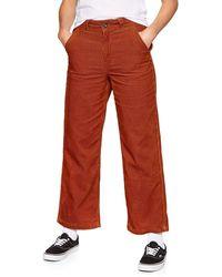 Vans Pantalone Velluto Donna Tegola Vn0a47vouxs1 Arancio 42 - Red