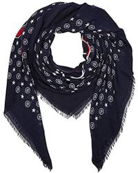 Tommy Hilfiger - Logo Mascot Square Scarf, Blue (corporate 901), One (size: Os) - Lyst