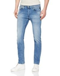 Replay Grover Tapered Fit Jeans - Blue
