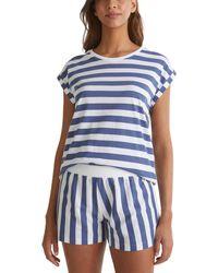 Esprit Bodywear DEENAH CAS NW Pyjama Pyjamaset - Blau