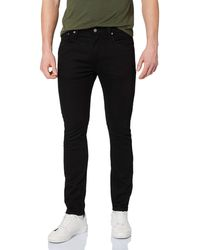 Levi's Caviar Sorbtek 512 Slim Taper Fit Jeans - Negro