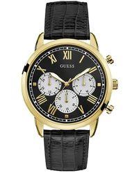 Guess Damen Analog Quarz Uhr mit Edelstahl Armband W1117L1 - Schwarz