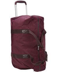 Kipling Medium Wheeled Tote Bag - Purple