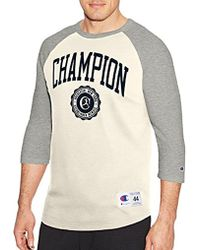 1018b23ee903 Lyst - Champion Vapor Cotton Long Sleeve Tee in Green for Men