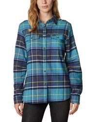 Columbia Pine Street Stretch Flannel Camicia con Bottoni - Blu