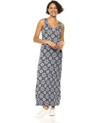 Amazon Essentials Patterned Tank Maxi Dress Vestido Casual - Blu