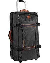 Timberland Zum Mitnehmen im Karomotiv leicht rollendes Gepäck über Nacht Reisetasche für - Schwarz
