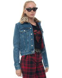 Guess - Blouson en jean denim moyen coton femme - - Large - Lyst