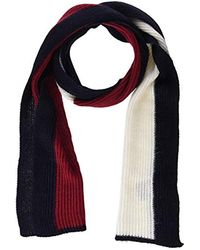 Tommy Hilfiger Schal Luxury Flag Scarf, Blau (Corporate 901) - Rot