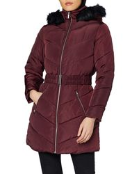 Dorothy Perkins Long Luxe Padded Jacket - Red